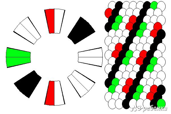 Схема фенечки кумихимо 21082