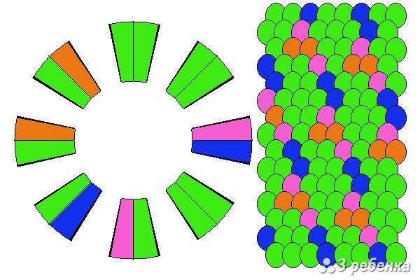 Схема фенечки кумихимо 21074