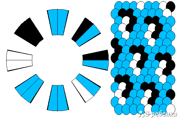 Схема фенечки кумихимо 21070