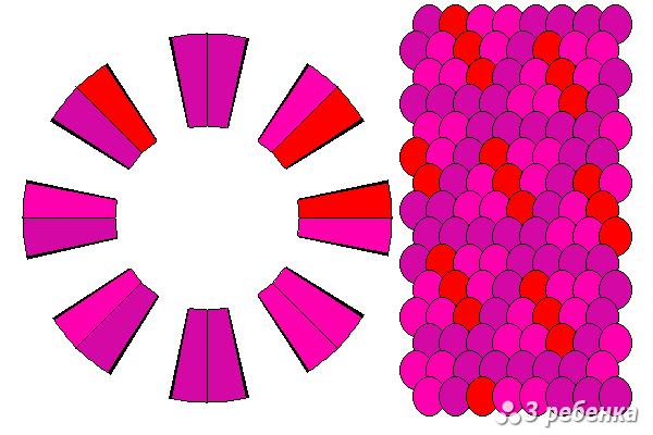 Схема фенечки кумихимо 21062