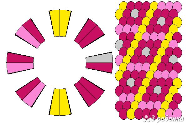 Схема фенечки кумихимо 21058