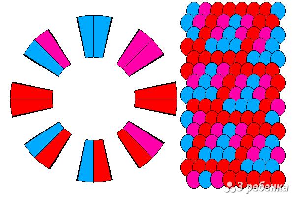 Схема фенечки кумихимо 21054