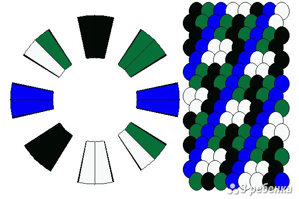 Схема фенечки кумихимо 21050