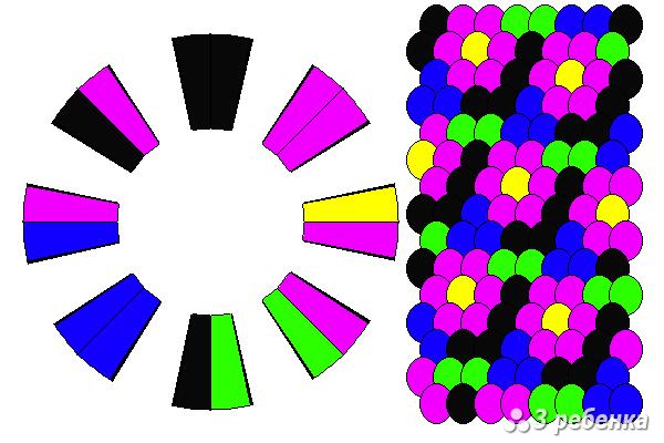Схема фенечки кумихимо 21046