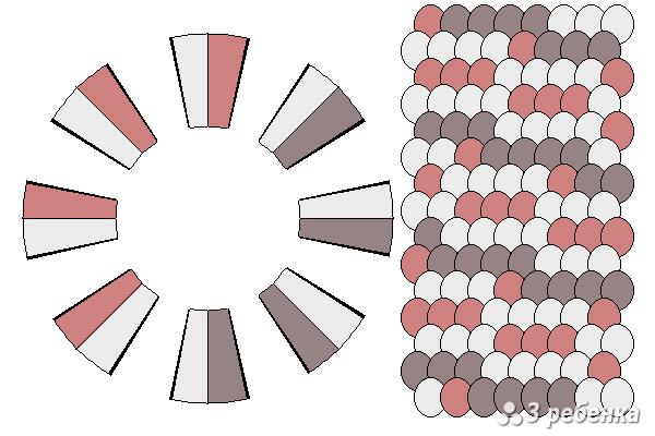 Схема фенечки кумихимо 21042