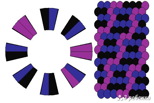 Схема фенечки кумихимо 21038