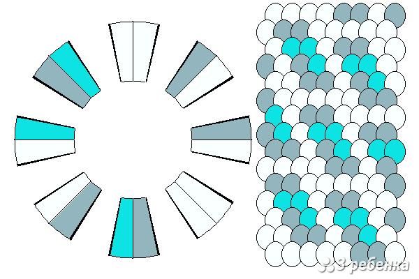 Схема фенечки кумихимо 21034