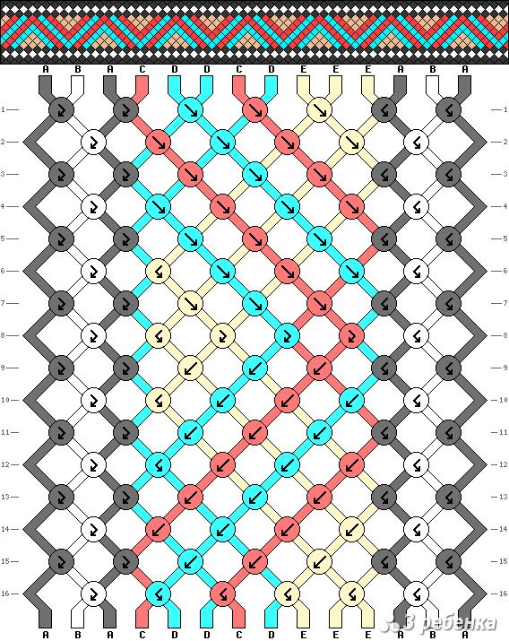 Схема фенечки 20809
