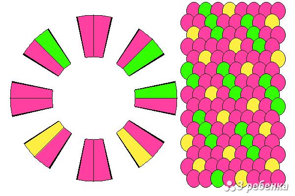 Схема фенечки кумихимо 21030