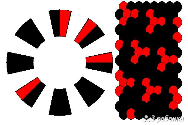 Схема фенечки кумихимо 21026