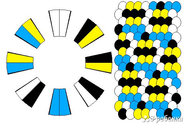 Схема фенечки кумихимо 21022