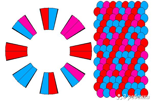 Схема фенечки кумихимо 21018