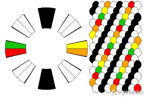 Схема фенечки кумихимо 21013