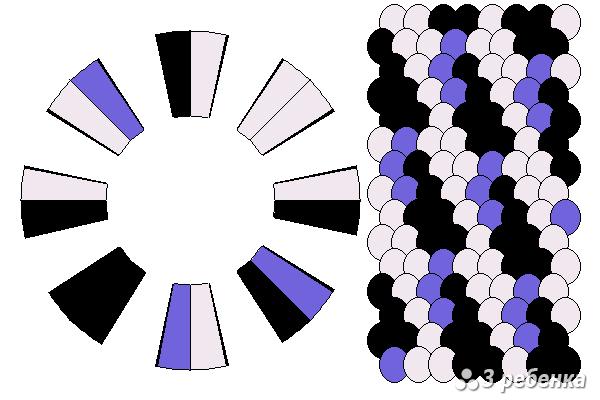 Схема фенечки кумихимо 21009