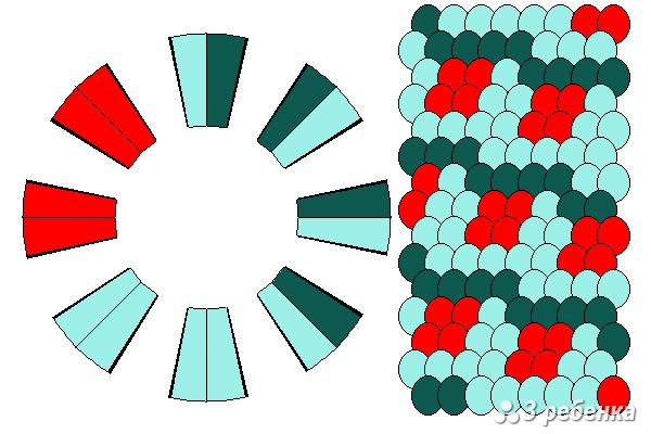 Схема фенечки кумихимо 21005