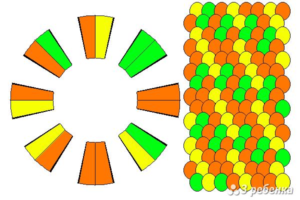 Схема фенечки кумихимо 21001