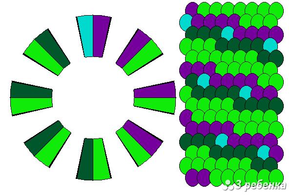 Схема фенечки кумихимо 20996