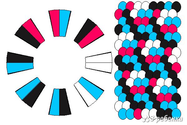 Схема фенечки кумихимо 20644