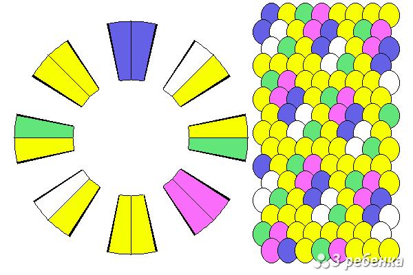 Схема фенечки кумихимо 20640