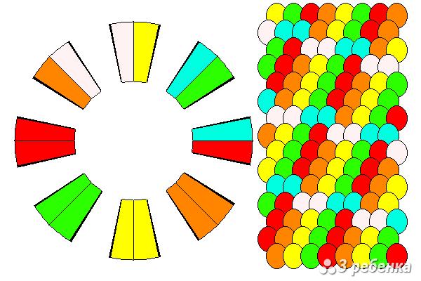 Схема фенечки кумихимо 20636