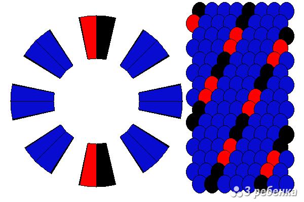 Схема фенечки кумихимо 20627