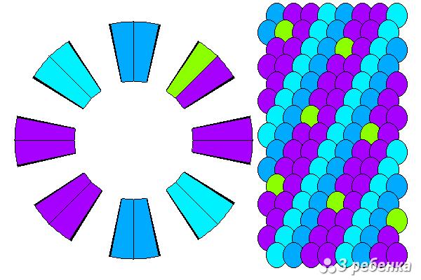 Схема фенечки кумихимо 20623