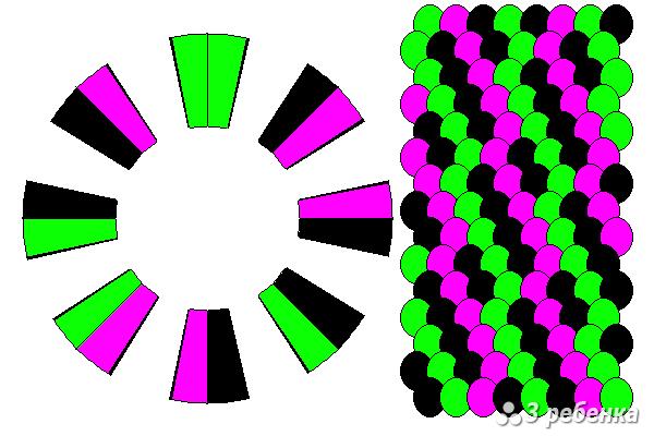 Схема фенечки кумихимо 20614