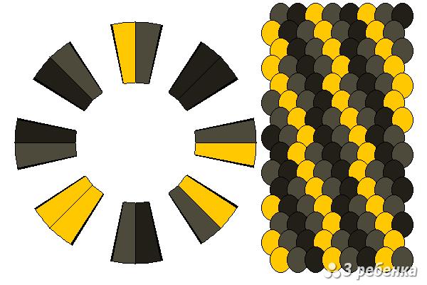 Схема фенечки кумихимо 20610