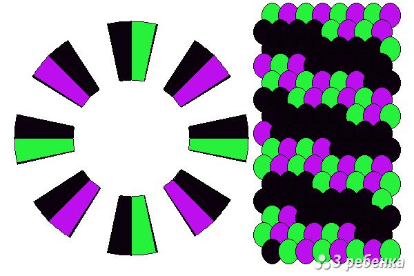Схема фенечки кумихимо 20604