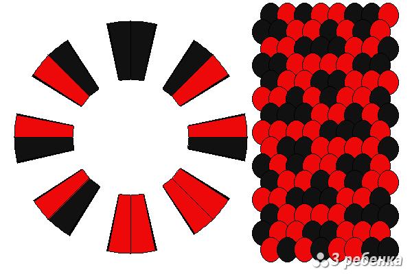 Схема фенечки кумихимо 20600