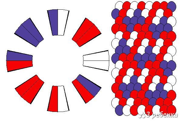 Схема фенечки кумихимо 20596