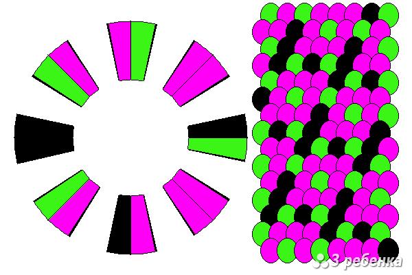 Схема фенечки кумихимо 20592