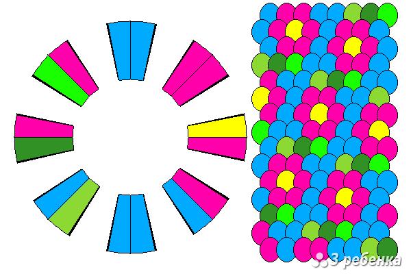 Схема фенечки кумихимо 20588