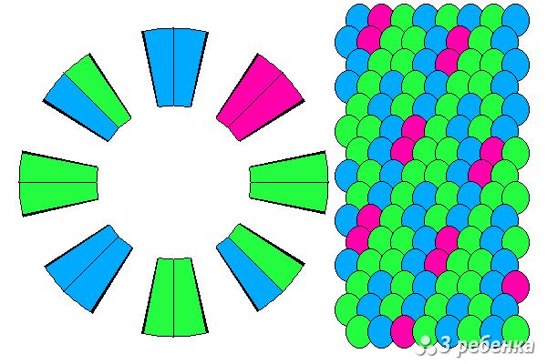 Схема фенечки кумихимо 20584