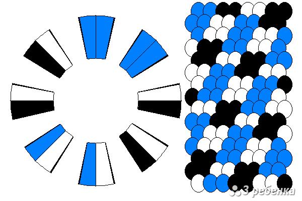 Схема фенечки кумихимо 20580