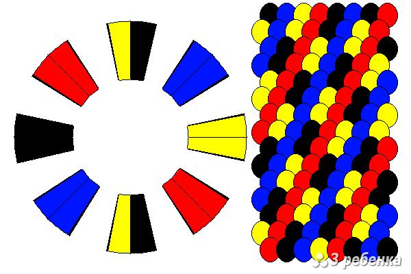 Схема фенечки кумихимо 20576