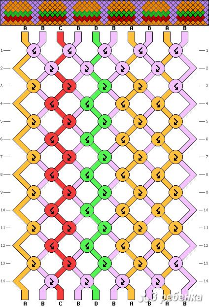 Схема фенечки 19886