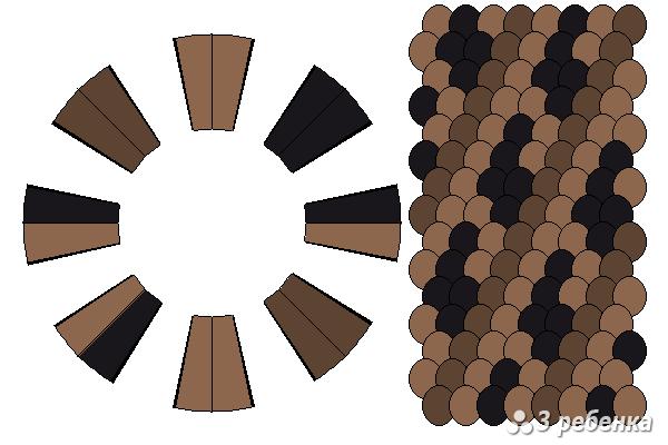 Схема фенечки кумихимо 20992