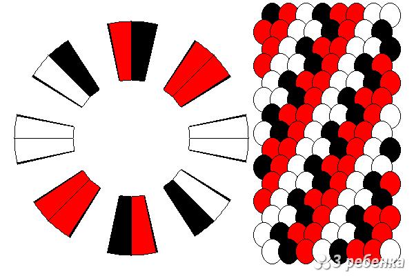 Схема фенечки кумихимо 20972
