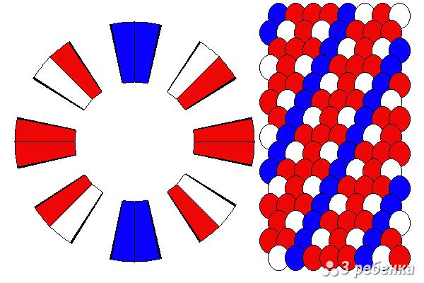Схема фенечки кумихимо 20988