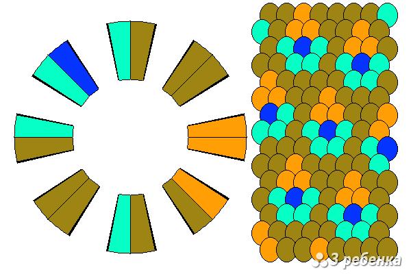 Схема фенечки кумихимо 20984
