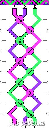 Схема фенечки 20736