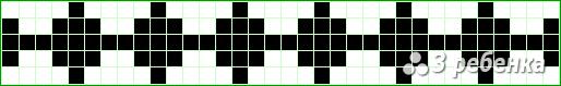 Схема фенечки прямым плетением 20369