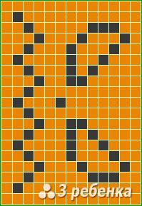 Схема фенечки прямым плетением 20962
