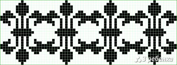 Схема фенечки прямым плетением 20967