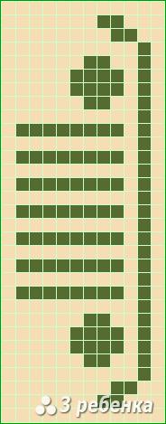 Схема фенечки прямым плетением 20236