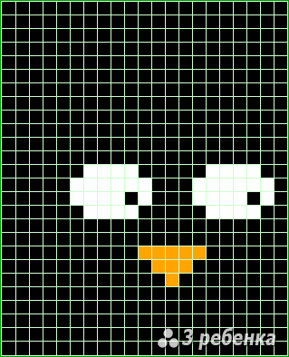 Схема фенечки прямым плетением 20364