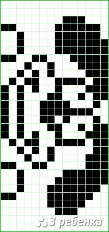 Схема фенечки прямым плетением 20324