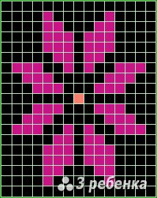 Схема фенечки прямым плетением 20339