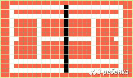 Схема фенечки прямым плетением 20230